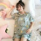 睡衣女夏季冰絲短袖韓版性感