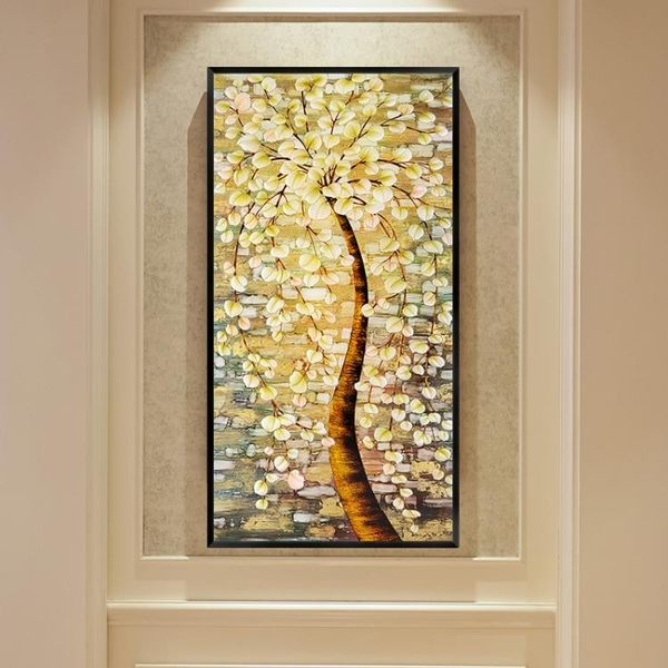 萬聖節優惠-掛畫 壁畫 黃金大道玄關裝飾畫豎版現代簡約北歐美式客廳走廊過道壁畫掛畫BLNZ