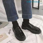 一腳蹬英倫小皮鞋韓版單鞋女【洛麗的雜貨鋪】