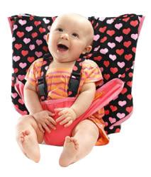 里和Riho 美國My Little Seat可攜式嬰兒安全座椅套 粉紅愛心 安全椅套 彌月禮 免運