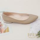 現貨 通勤族必備 裸妝女孩 尖頭低跟包鞋 好走不磨腳時尚好搭配 20.5-26 EPRIS艾佩絲-卡其