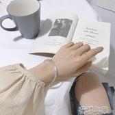 手鐲女韓版簡約氣質百搭冷淡風學生飾品手鍊 花樣年華