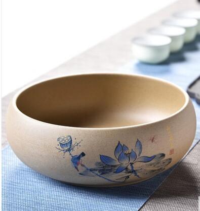 功夫茶具筆洗青花陶瓷配件茶道