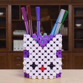 手工串珠筆筒diy編織材料包製作亞克力海綿創意飾品散珠子工藝品 英雄聯盟
