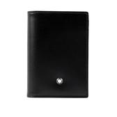 【MONT BLANC】牛皮經典款名片/卡片夾(黑色) 7167
