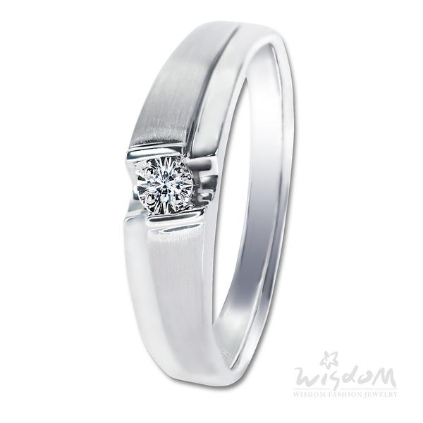 威世登 幸福約定鑽石戒指-男戒 婚戒推薦 情人節禮物 DA03321B-1-BFHXX