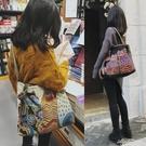 原創個性貓咪氣質大容量包包女帆布側背包斜背包復古民族風文藝潮 黛尼時尚精品