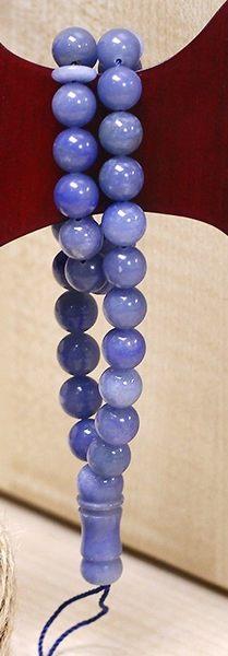 [協貿國際]天然藍石33顆念珠單個價