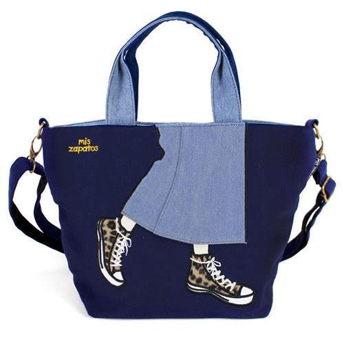 mis zapatos 深藍色 美腿包 2way 兩用 手提包 肩包 日本帶回正版商品