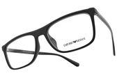 EMPORIO ARMANI 光學眼鏡 EA3124F 5129 (霧黑) 中性百搭方框款 平光鏡框 #金橘眼鏡