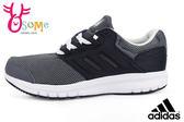 adidas運動鞋 男童鞋 galaxy 4 k 透氣跑步鞋 中大童O9376#黑灰◆OSOME奧森童鞋/小朋友