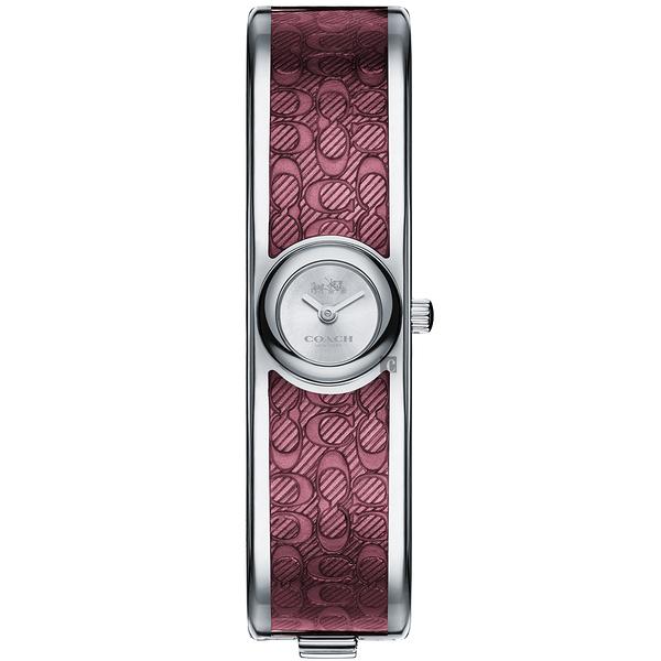 COACH Scout 經典C字時尚手環錶-酒紅/16mm CO14502621