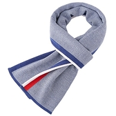 針織圍巾-羊毛時尚拼色條紋男披肩3色73wi20【時尚巴黎】