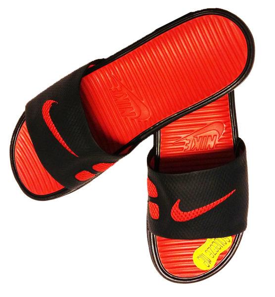 (特價) NIKE拖鞋 Benassi Solarsoft Slide 紅黑配 431884-011 流行沙海灘鞋潮流百搭時尚情侶鞋休閒 【代購】