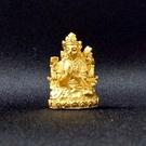 四臂觀音 2.6公分 佛像法像-金黃色