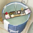 浴缸架 浴缸架可伸縮防滑塑料浴缸衛生間泡澡置物架功能洗澡收納架【快速出貨八折下殺】