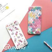 【R】草莓 霜淇淋 瓶子 韓國 iPhone 6 卡通 鋼化膜 蘋果 防爆膜彩色 幾何 玻璃膜