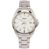 SEIKO 簡約時尚風格不鏽鋼錶帶手錶(SUR273P1)-銀面x銀色/42mm