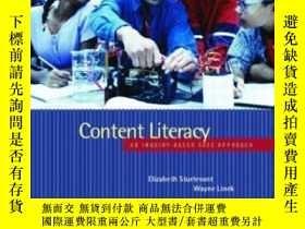 二手書博民逛書店Content罕見Literacy: An Inquiry-based Case Approach-內容素養:基於