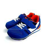 日本月星MOONSTAR 魔鬼氈機能學步鞋 《7+1童鞋》B448藍色
