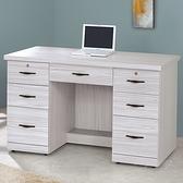 【水晶晶家具/傢俱首選】CX1452-7 密卡登4.2尺七抽木心板書桌