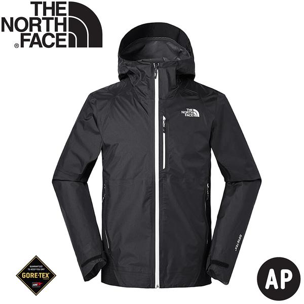 【The North Face 男 GORE-TEX 防水夾克《黑》】3V84/防水外套/防風外套