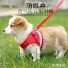 寵物用品狗狗牽引繩防掙脫外出小型犬胸背帶反光狗鍊子繩子遛狗繩 快速出貨