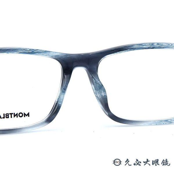 MONTBLANC 2019最新款 萬寶龍 眼鏡 方框 近視眼鏡 MB0021OA 004 透灰藍-鐵灰 久必大眼鏡