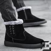 雪地靴保暖防水防滑棉靴加絨棉鞋百搭馬丁靴面包鞋【左岸男裝】