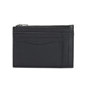 COACH 荔枝皮革證件卡夾零錢包(黑色)