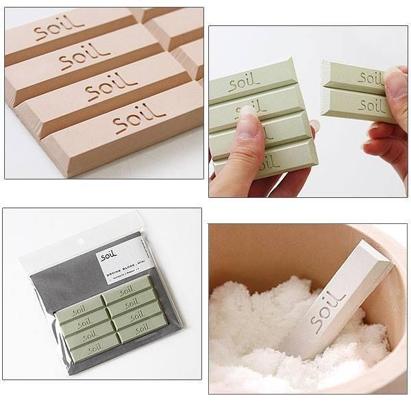 日本 soil 珪藻土乾燥劑-長方形(綠色)