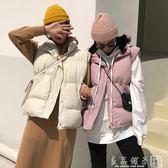 秋冬2018新款韓版加厚無袖棉馬甲女裝寬鬆棉服馬夾面包服上衣學生 良品鋪子