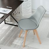 樂嫚妮 皮革休閒辦公餐椅-3色灰