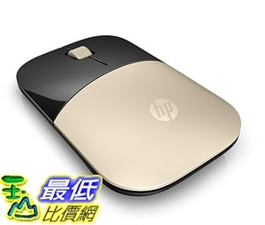 [7美國直購] HP 金色滑鼠 HP 2.4GHz Wireless USB Mouse Z3700 (Matte Gold/Glossy Black)