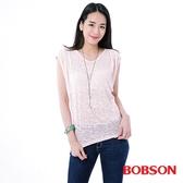 BOBSON 女款燒花寬版短袖上衣(23076-10)