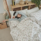 純棉 床包被套組(鋪棉被套) 單人【茉莉】ikea風 100%精梳棉 翔仔居家