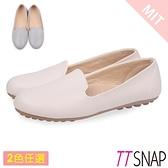 休閒鞋-TTSNAP MIT素面柔美軟Q平底豆豆鞋 米/灰/粉/藍