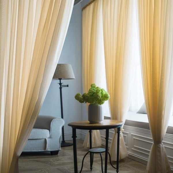 窗簾紗簾布簡約現代窗紗布料飄窗落地白色沙遮光定製成品陽台紗簾【好康618】
