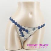 Chasney Beauty-Felice青花瓷M蠶絲丁褲(藍)