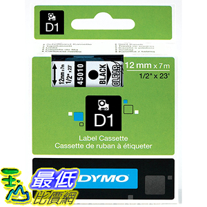 [美國直購] DYMO 45010 High-Performance Permanent Self-Adhesive D1 Polyester Tape 1/2 inch x 23 標籤紙
