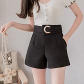 VK精品服飾 韓系時尚高腰短褲休閒褲顯瘦單品短褲