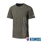K-SWISS Mesh Print Logo Tee排汗T恤-男-橄欖綠