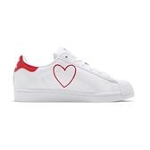 Adidas Superstar W 女鞋 白 紅 休閒鞋 貝殼頭 愛心 情人節 FX8729