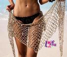 草魚妹-V305披裙網狀貝殼罩衫可搭泳衣比基尼正品,單罩衫售價450元