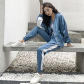 運動套裝運動兩件套裝女裝春秋季韓版時尚洋氣寬鬆休閒學生早春潮 寶貝計劃