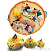 寶寶玩具積木分類整理袋收納箱筐兒童玩具快速收納袋透明束口抽繩 怦然心動
