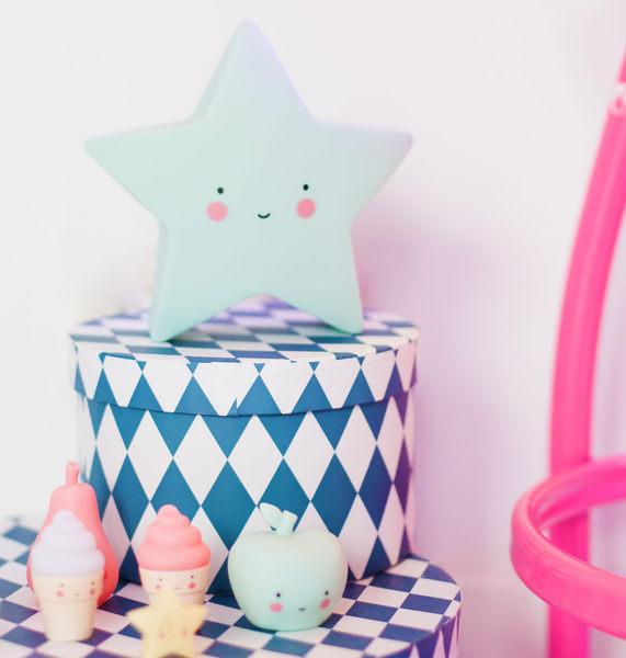 【荷蘭 A little lovely company】療癒微笑星星小夜燈 - 甜薄荷 #LTSM031