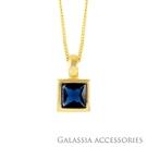 G.A 純銀飾品 設計款項鍊-海洋藍寶石《GA》NE046 情人節 女友生日禮物 純銀飾 穿搭必備 網美款