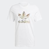 Adidas Originals CAMO TREFOIL 男裝 短袖 T恤 迷彩 三葉草 純棉 白【運動世界】GN1855
