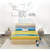 收納床 北歐板式床現代簡約雙人床1.8米經濟型收納1.5主臥氣動高箱儲物床T 2色